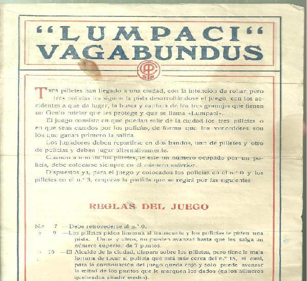 C3.- lumpaci vagabundus - hoja con las reglas del juego -