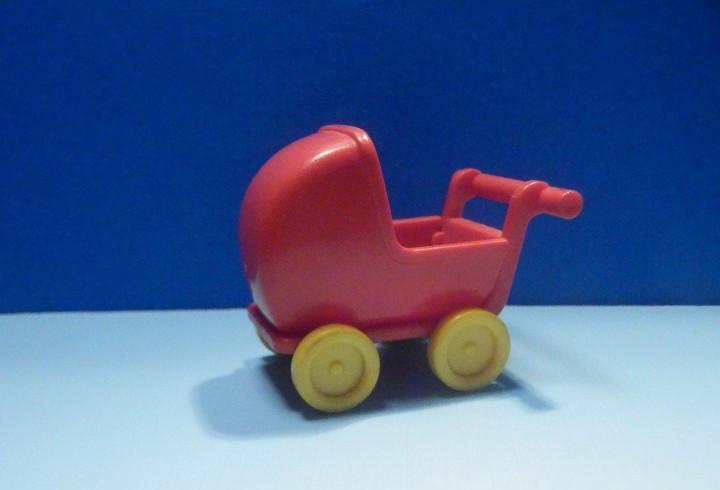Famobil - coche - cochecito paseo bebé - carrito - rojo -