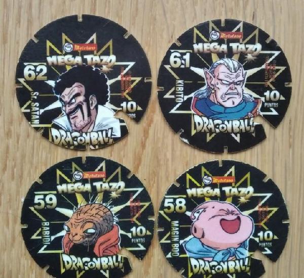 Mega tazo dragon ball - matutano - lote 4 tazos