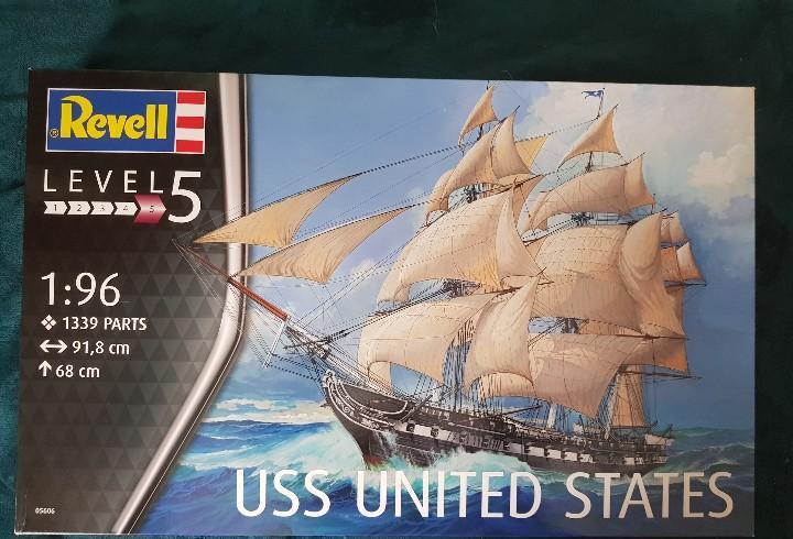 Revell 05606 fragata uss united states (1797) escala 1/96