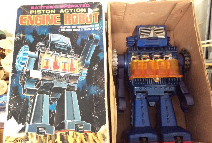 Sh horikawa robot piston engine, como nuevo, con caja, muy