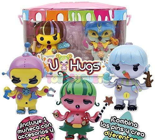 U hugs - pack especial muñeca con 12 pins extra - flower y