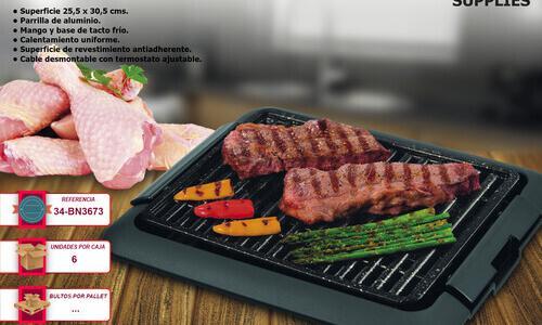 Grill plancha eléctrico sin humos mini-barbacoa