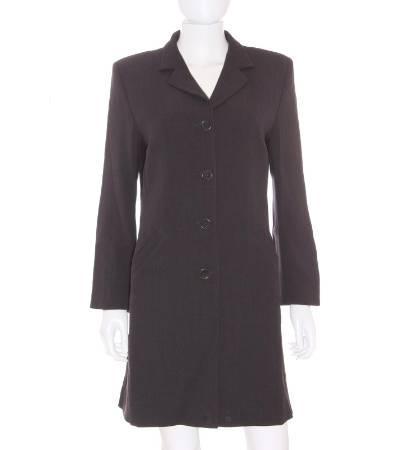 Abrigo mujer – caramelo largo en gris oscuro de segunda