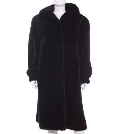 Abrigo mujer de mouton en color negro de segunda mano