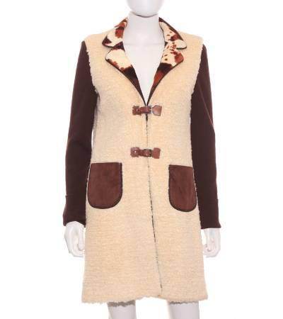 Chaqueta abrigo mujer – lili costa larga de punto con