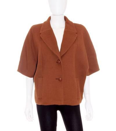 Chaqueta mujer – elogy estilo capa marrón mangas