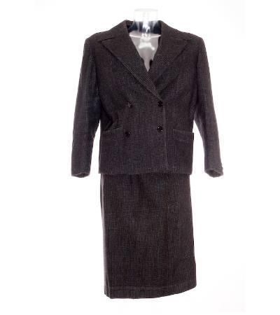 Conjunto mujer vintage chaqueta falda de lana de segunda