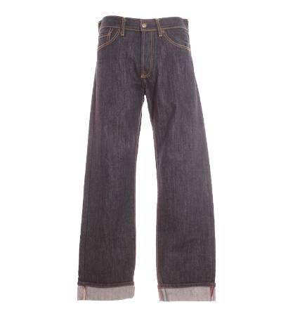 Pantalón hombre – vaquero en azul oscuro de segunda mano