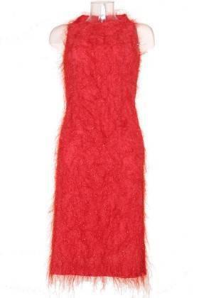 Vestido fiesta mujer – adolfo dominguez en rojo brillante