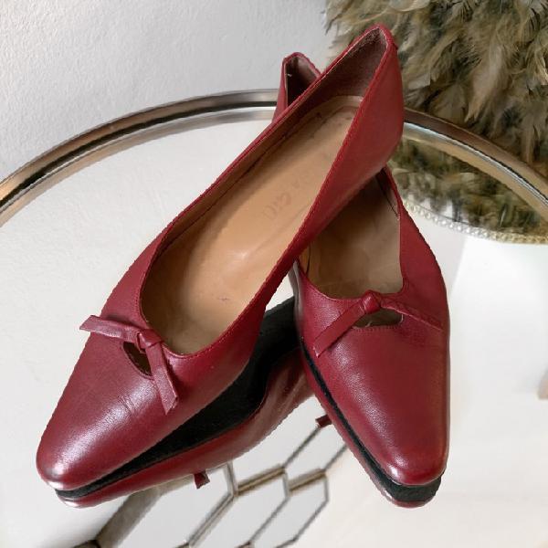 Zapatos rojos lazo otras marcas zapatos planos