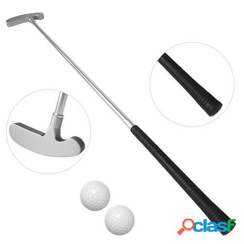 Golf putting trainer portable chipper club golf putter kit de palo de golf con 2 pelotas de práctica para interiores y exteriores