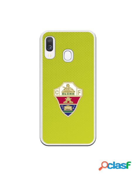 Funda Oficial Escudo Elche CF color lima para Samsung Galaxy A40