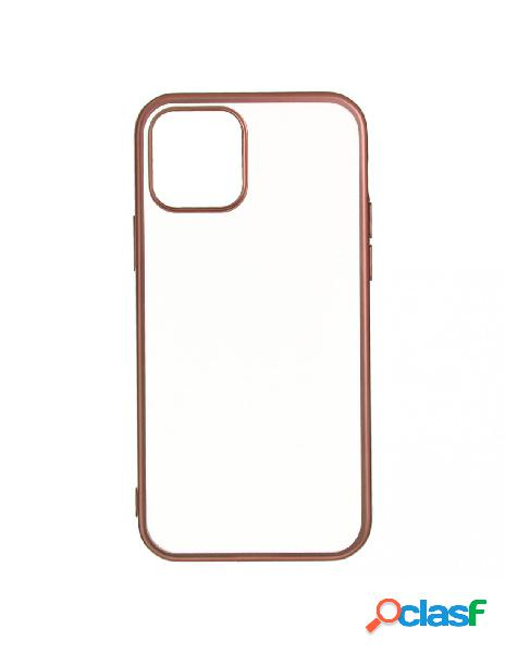 Funda bumper premium oro rosa para iphone 12 mini
