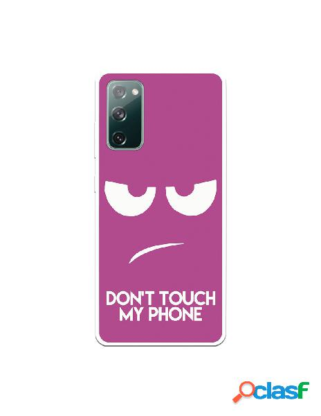 Funda dont touch rosa para samsung galaxy 20 fe