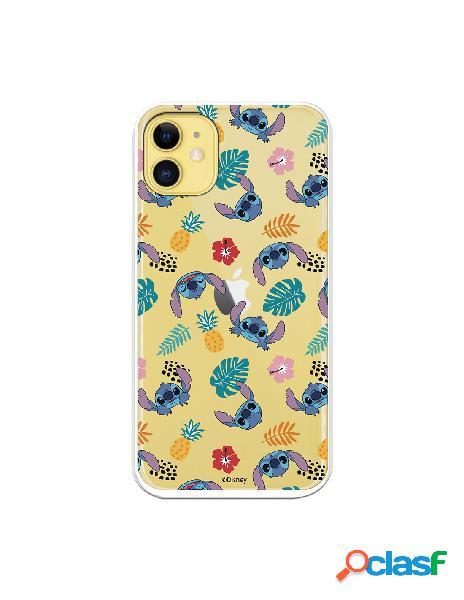 Funda para iphone 11 oficial de disney stitch siluetas - lilo & stitch