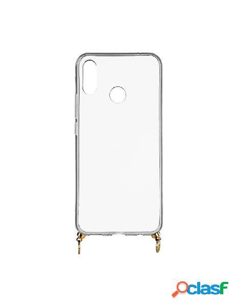 Funda silicona colgante transparente para huawei honor 10 lite