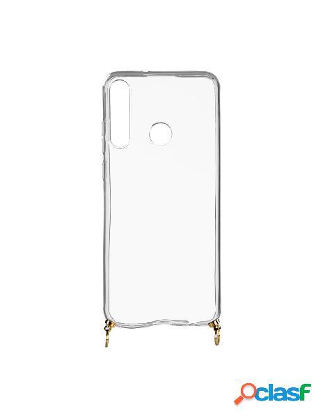 Funda silicona colgante transparente para huawei y6p