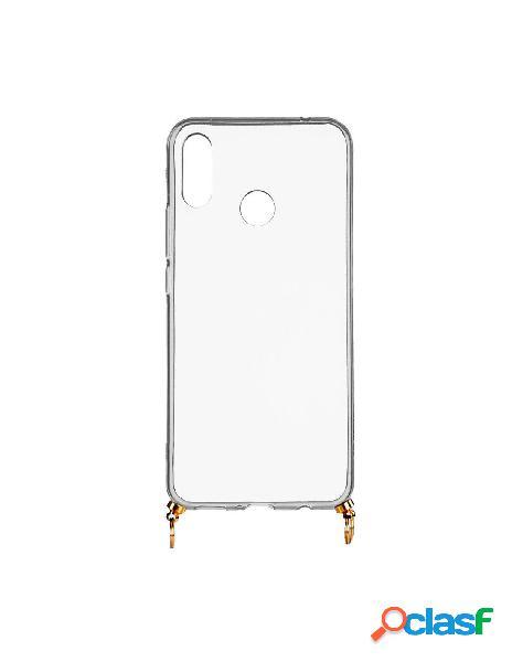 Funda silicona colgante transparente para huawei y9 2019