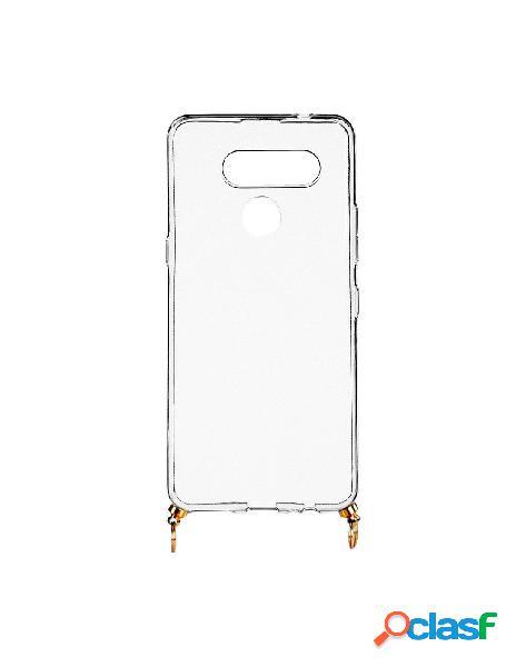 Funda silicona colgante transparente para lg k50s