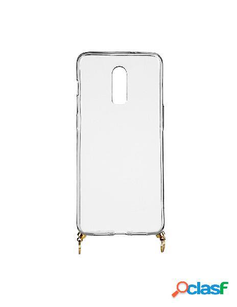 Funda silicona colgante transparente para oneplus 7