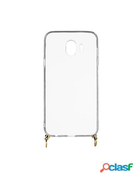 Funda silicona colgante transparente para samsung galaxy j4 2018