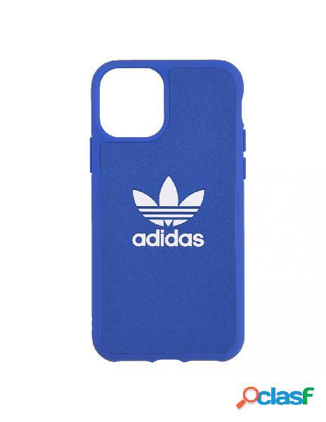 Funda cuero adidas oficial logo azul - edición limitada para iphone 11 pro