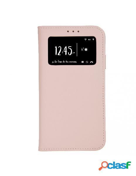 Funda libro multifuncional rosa arena para iphone 7