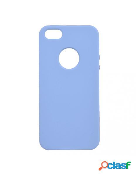 Funda ultra suave logo azul claro para iphone 5s