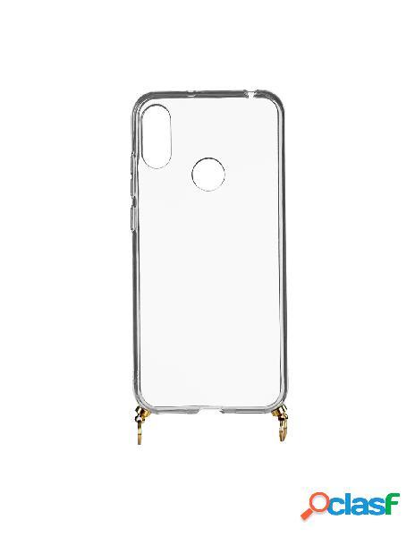 Funda silicona colgante transparente para huawei y6 2019