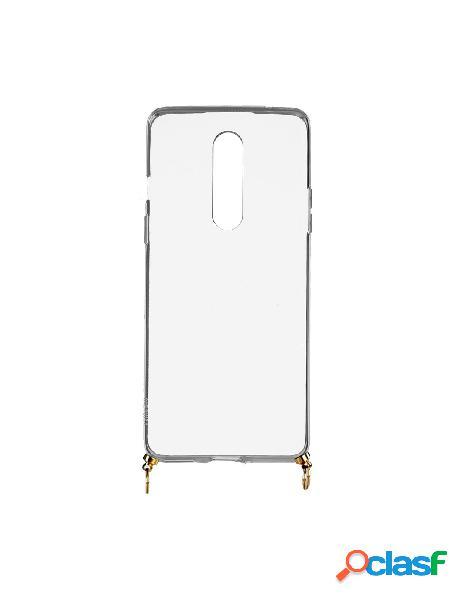 Funda silicona colgante transparente para oneplus 8