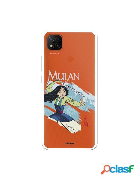 Funda para xiaomi redmi 9c oficial de disney mulan tipografia - mulan