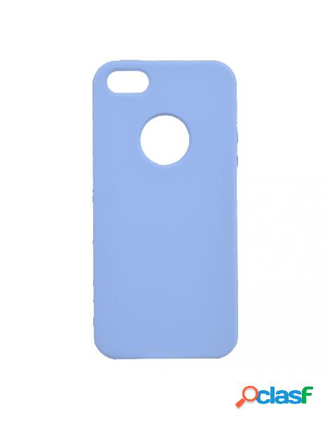Funda ultra suave logo azul claro para iphone 5