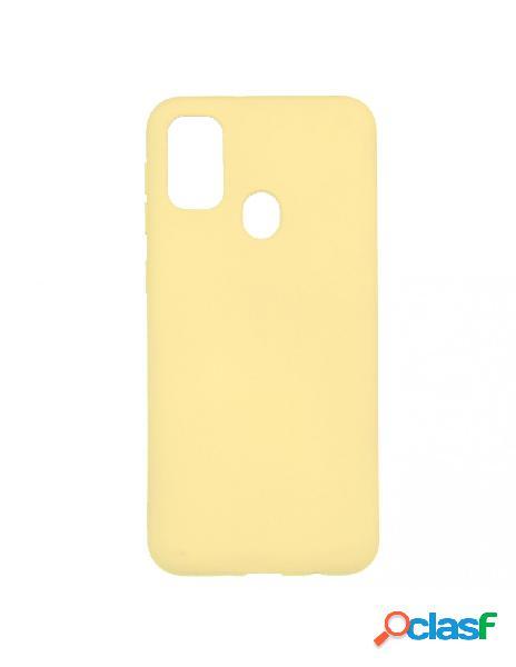 Funda ultra suave amarillo pastel para samsung galaxy m21