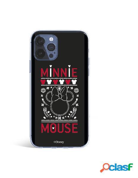 Funda para iphone 12 pro max oficial de disney minnie negro bordado - clásicos disney