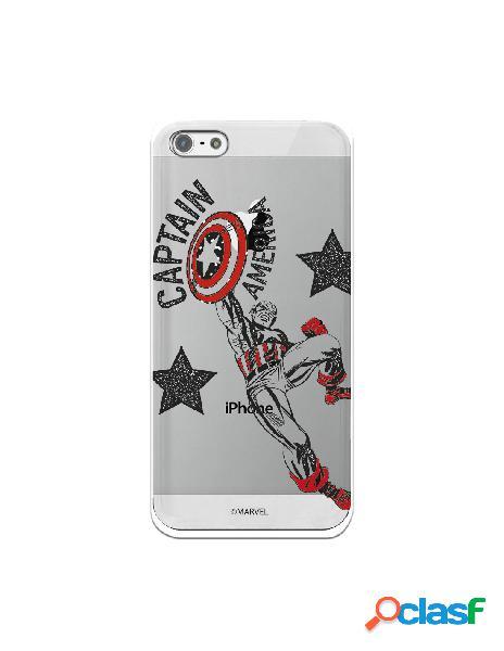 Funda para iphone 5s oficial de marvel capitán américa red transparente - marvel