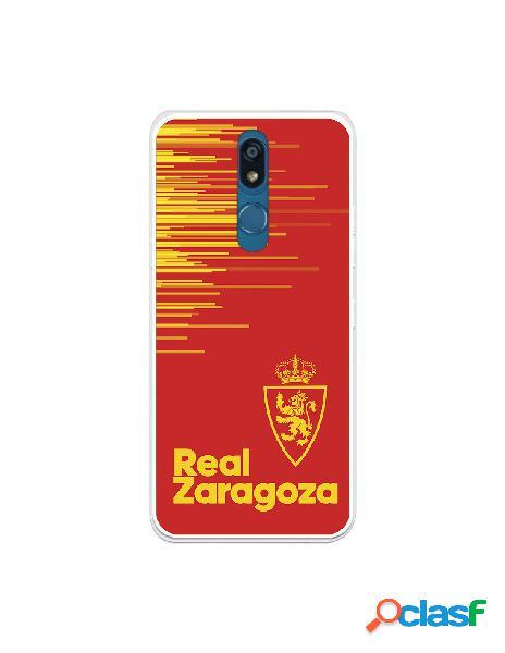 Funda para lg k40 del zaragoza fondo rojo - licencia oficial real zaragoza