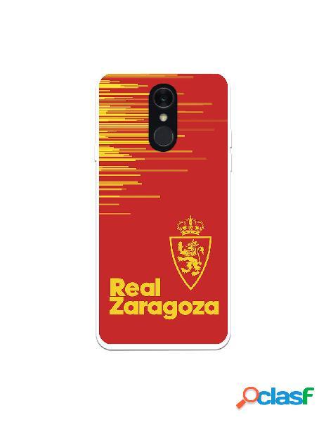 Funda para lg q7 del zaragoza fondo rojo - licencia oficial real zaragoza