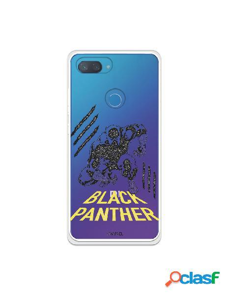 Funda para xiaomi mi 8 lite oficial de marvel black panther pose transparente - marvel