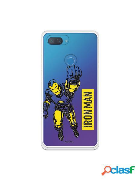 Funda para xiaomi mi 8 lite oficial de marvel iron man yellow transparente - marvel