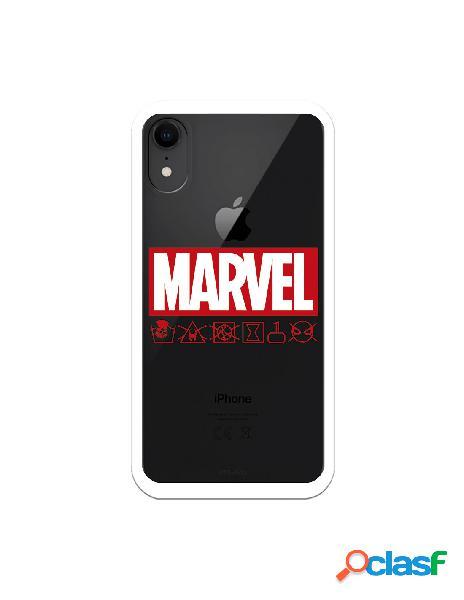 Funda para iphone xr oficial de marvel marvel logo red - marvel