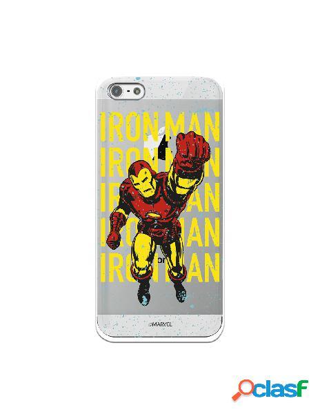 Funda para iphone 5s oficial de marvel iron man color transparente - marvel