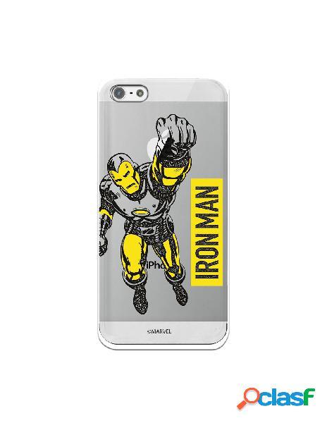 Funda para iphone 5s oficial de marvel iron man yellow transparente - marvel