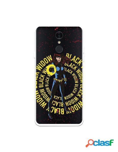 Funda para lg q7 oficial de marvel black widow color transparente - marvel