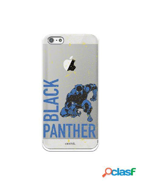 Funda para iphone 5s oficial de marvel black panther fondo puntos amarillos - marvel