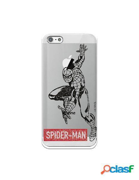 Funda para iphone 5s oficial de marvel spider-man logo rojo transparente - marvel