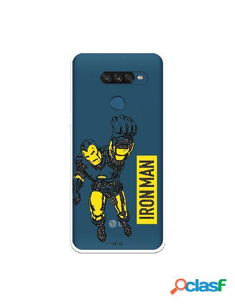 Funda para lg k50s oficial de marvel iron man yellow transparente - marvel