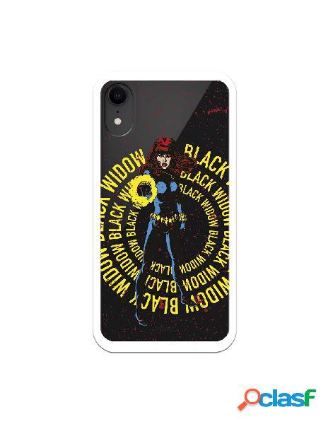 Funda para iphone xr oficial de marvel black widow color transparente - marvel