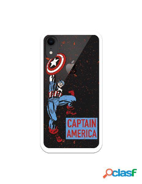 Funda para iphone xr oficial de marvel capitán américa fondo puntos rojos - marvel