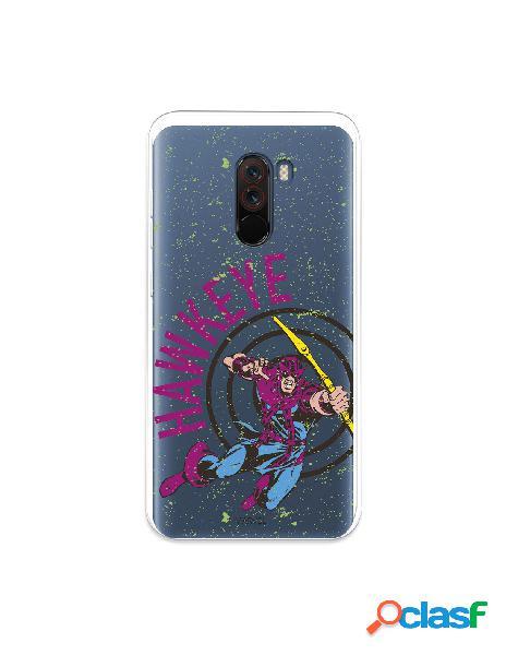 Funda para xiaomi pocophone f1 oficial de marvel hawkeye color transparente - marvel